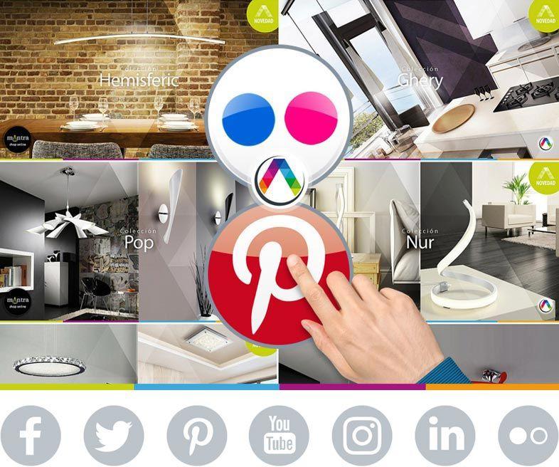 La Casa de la Lámpara presente en 7 redes sociales con las últimas tendencias en iluminación