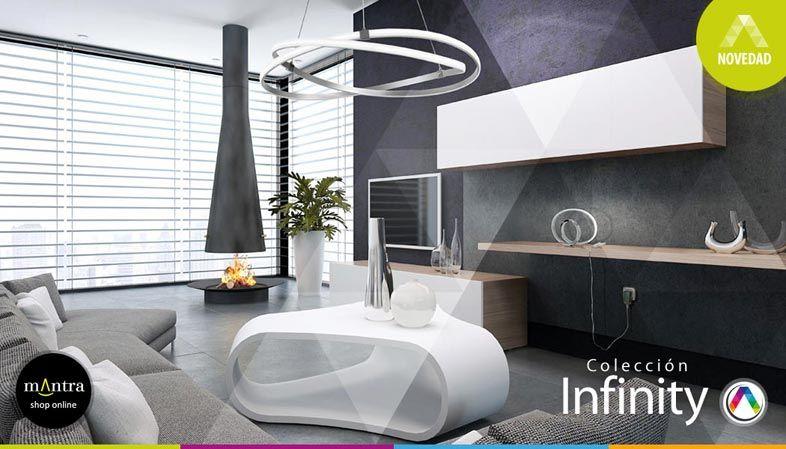 Top 5 Tendencias en iluminación interior con lámparas Mantra - Colección Infinity - La Casa de la Lámpara