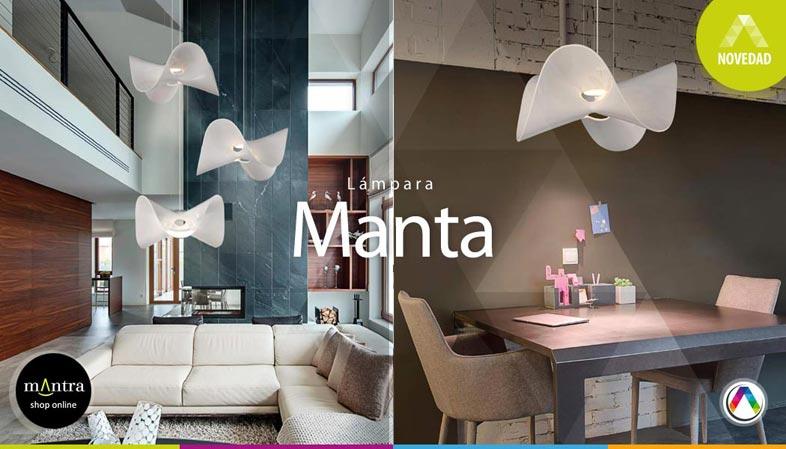 Top 5 Tendencias en iluminación interior con lámparas Mantra - Colección Manta - La Casa de la Lámpara