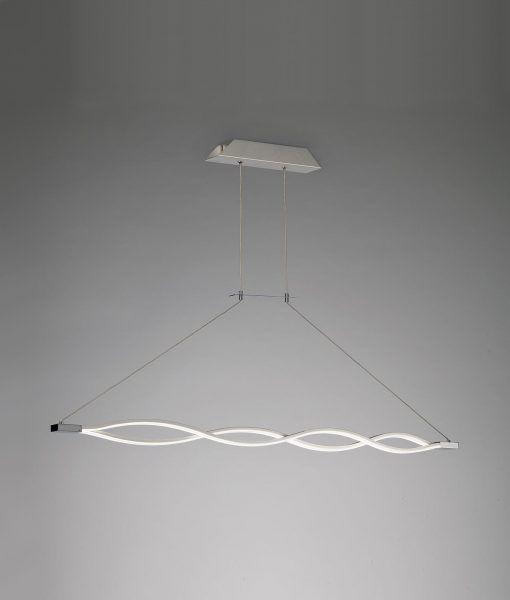 Lámpara colgante grande LED dimmable plata SAHARA – La Casa de la Lámpara