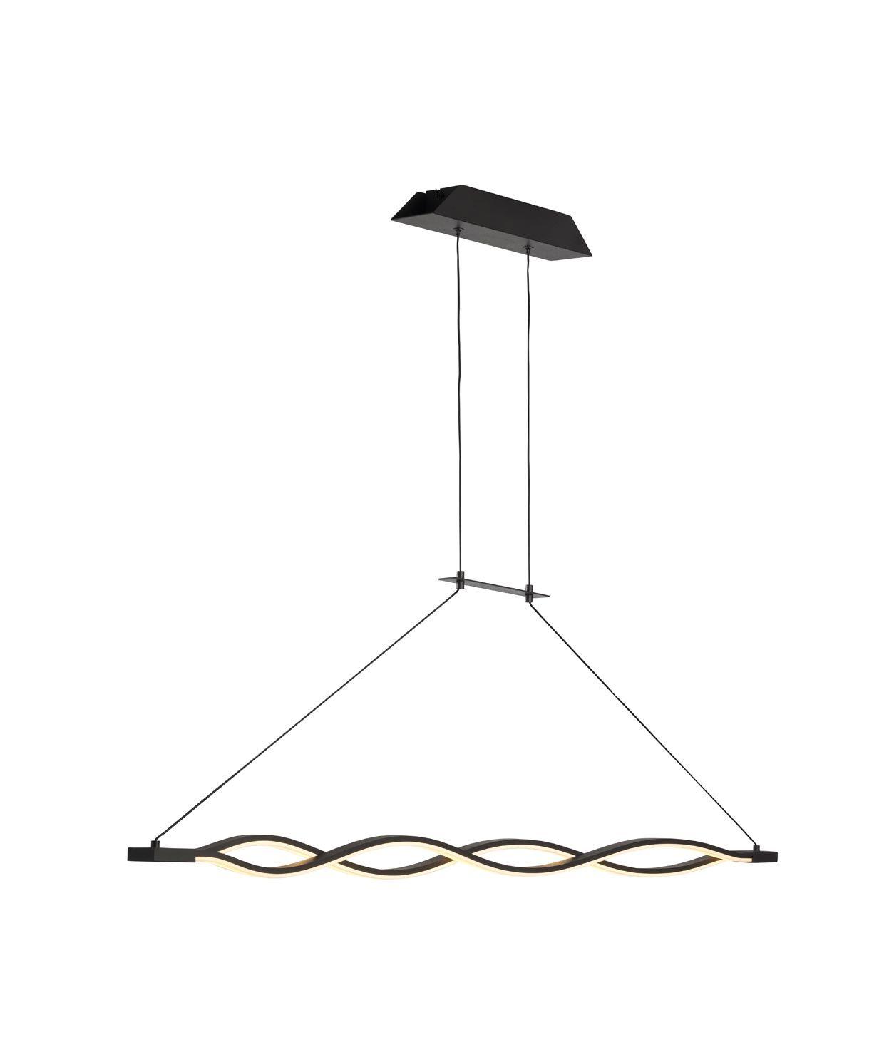 Lámpara colgante grande LED forja SAHARA