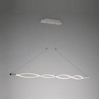 Lámpara colgante grande LED SAHARA plata