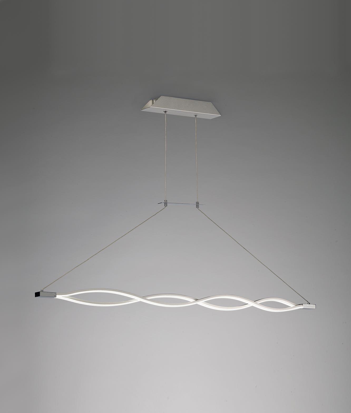 Lámpara colgante SAHARA plata cromo - La Casa de la Lámpara