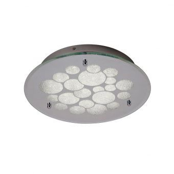 Lámpara de techo cristal redonda CORAL LED
