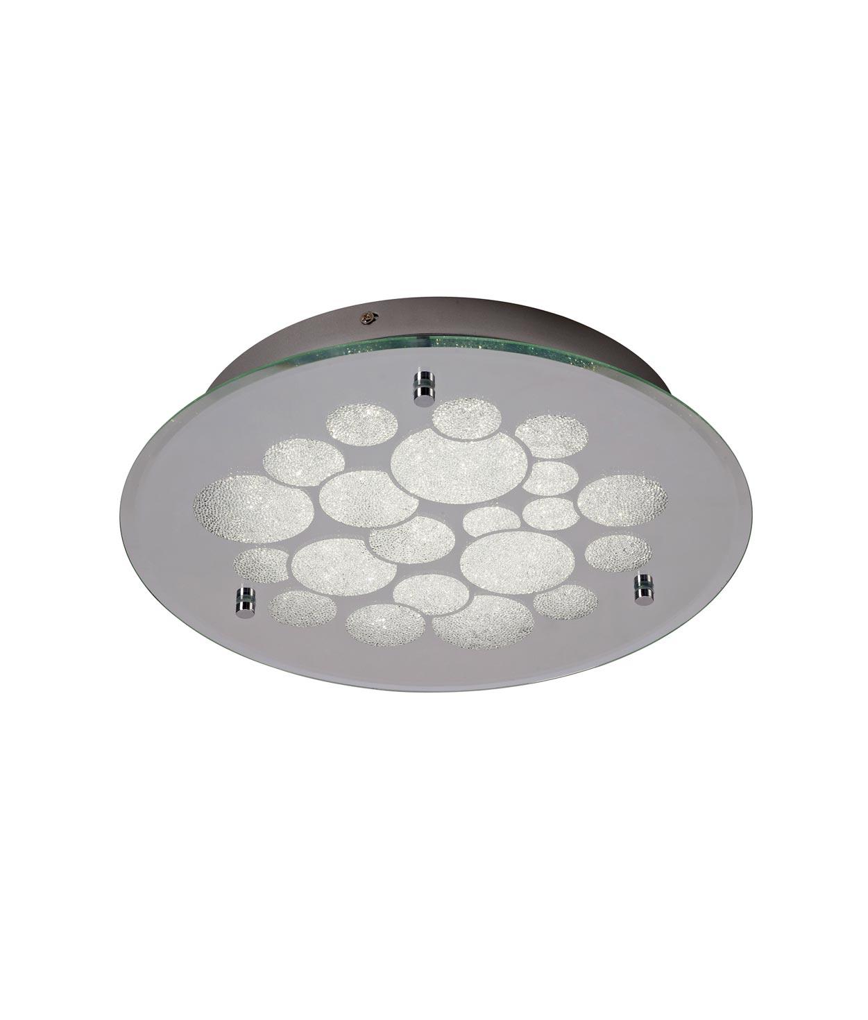 L mpara de techo cristal redonda coral led la casa de la - Lamparas de techo de led ...