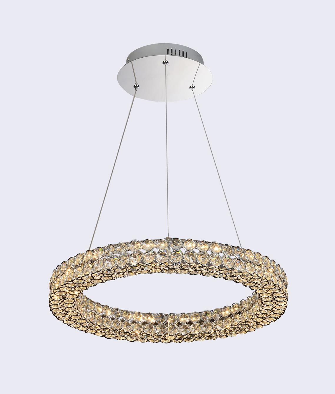 Lámpara de techo lujosa grande CRYSTAL LED detalle
