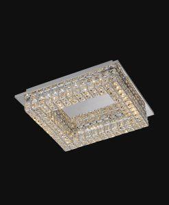 Plafón cuadrado elegante CRYSTAL LED