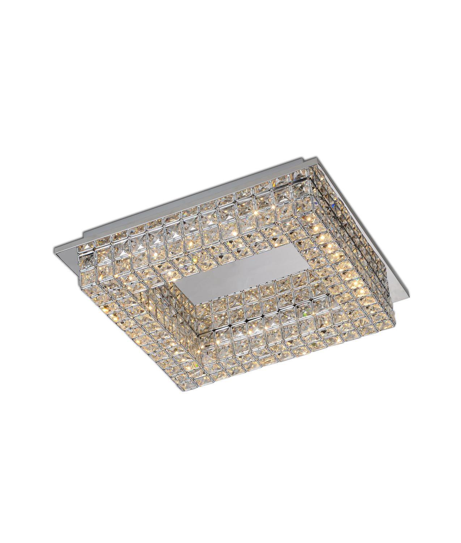 Plafón cuadrado elegante CRYSTAL LED detalle