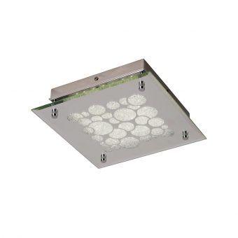 Plafón de cristal cuadrado CORAL LED
