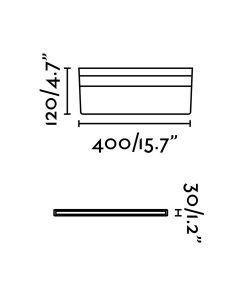 Medidas aplique baño minimalista LINE LED