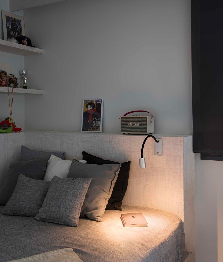 Aplique brazo articulado níquel LESER LED ambiente