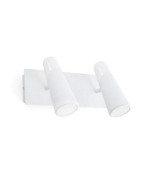 Aplique dos luces minimalista blanco LAO LED