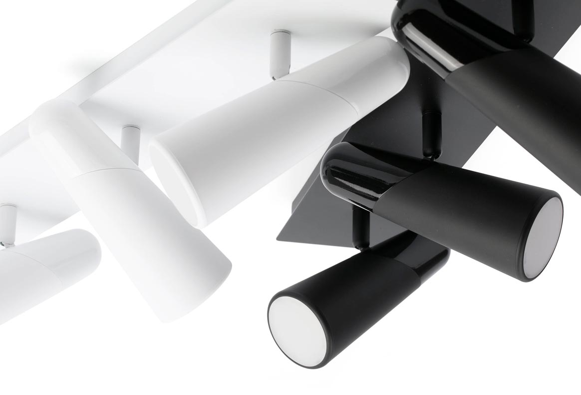 Aplique tres luces minimalista blanco LAO LED detalles