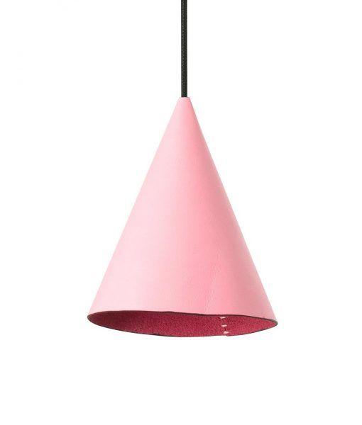 Colgante de piel original rosa FADA LED