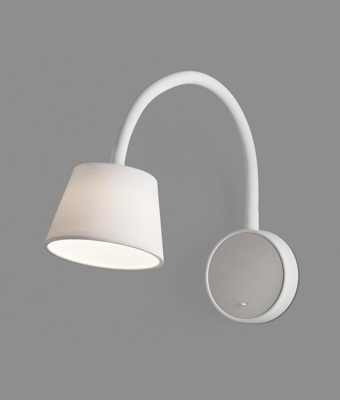 Lámpara aplique flexible blanca BLOME LED detalle
