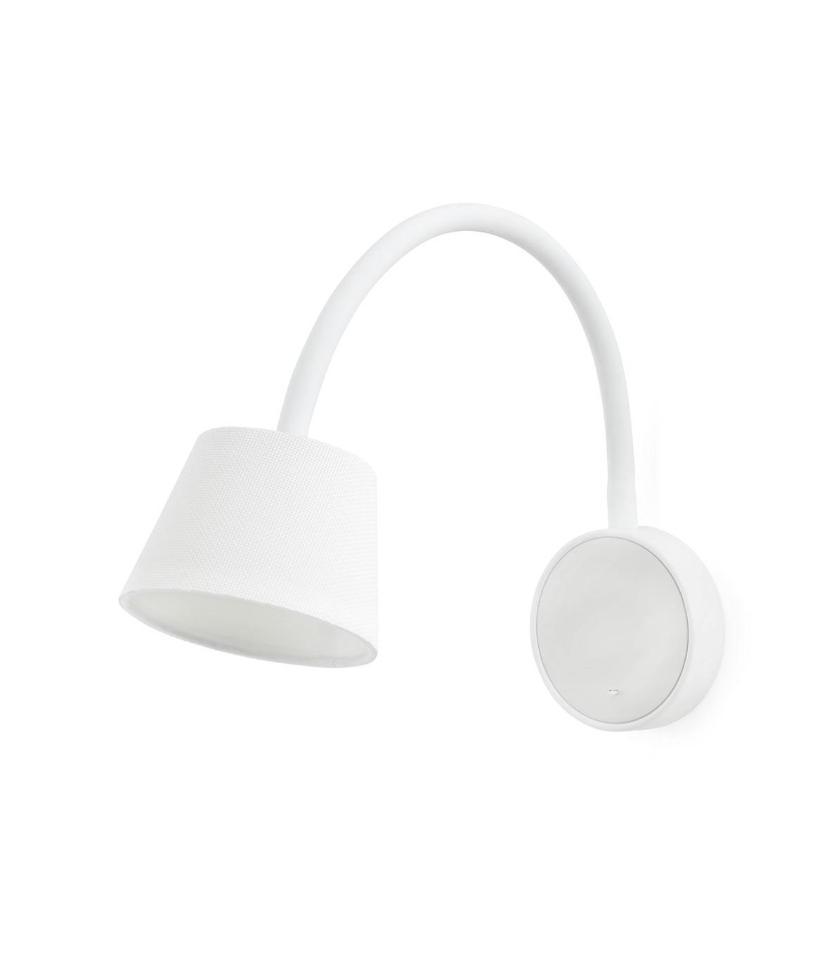 Lámpara aplique flexible blanca BLOME LED