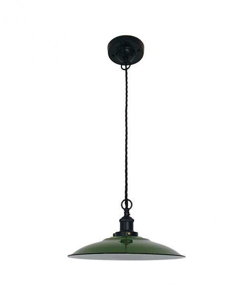 Lámpara colgante ovalada verde LANG