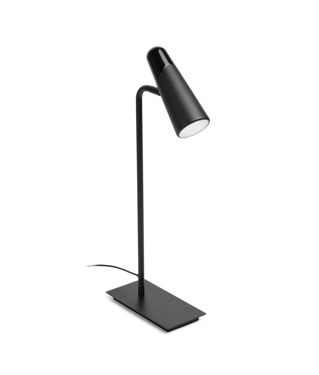 Lámpara de mesa minimalista negra LAO LED