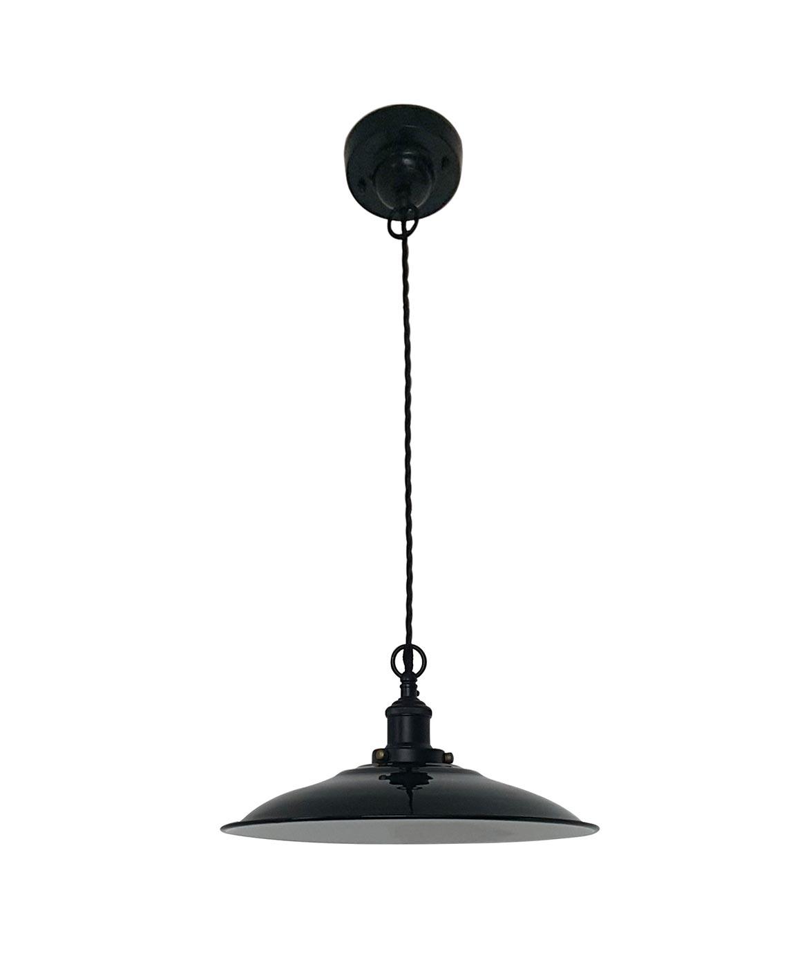 Lámpara de techo ovalada negra LANG