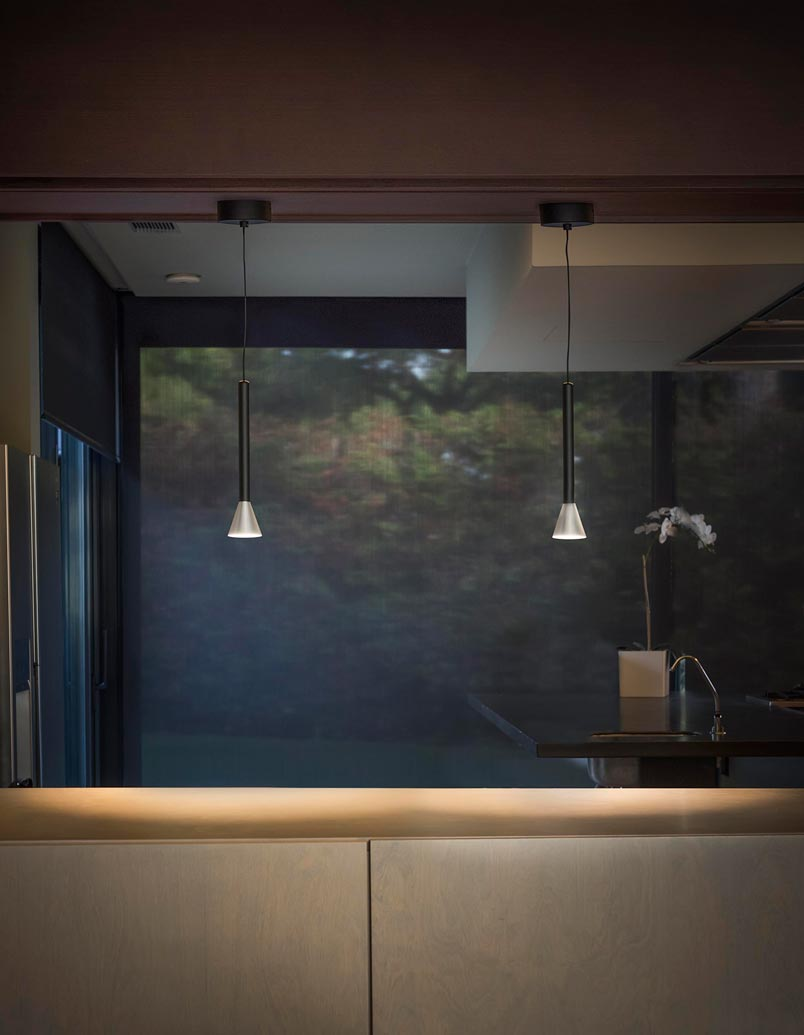 Lámpara níquel minimalista DANKA LED ambiente