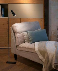 Lámpara salón minimalista negra LAO LED ambiente
