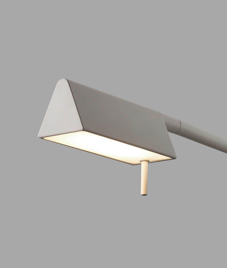 Lámpara sobremesa blanca ACADEMY LED detalle
