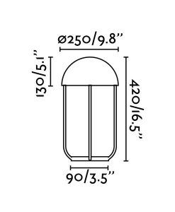 Medidas lámpara sobremesa moderna JELLYFISH LED