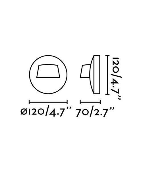 Medidas aplique blanco exterior BROW LED