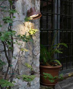 Aplique de pared para exterior marrón BRONX ambiente
