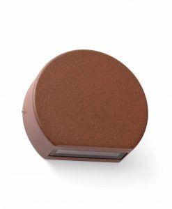 Aplique de terraza marrón óxido PILL LED