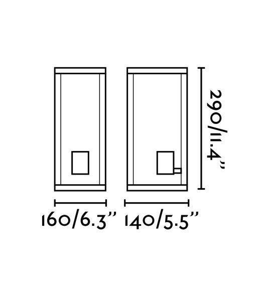 Medidas aplique decorativo clásico exterior NALA