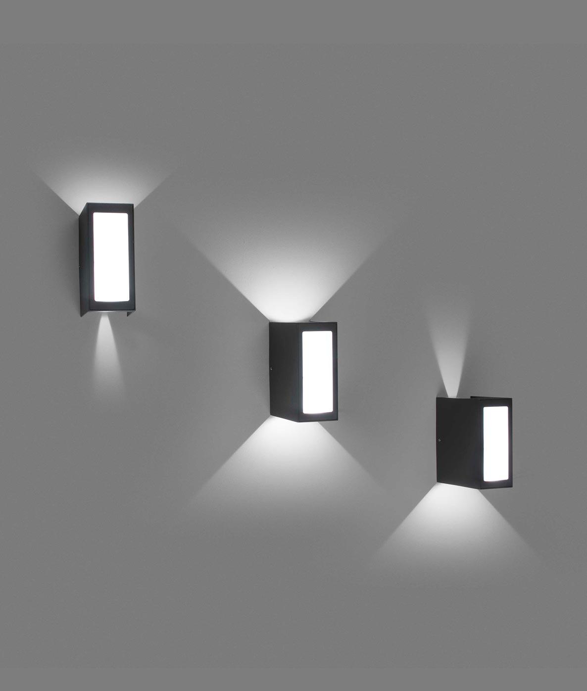 Aplique exterior ⋆ LOG la Lámpara LED La decorativo Casa de cTF1l3KJ
