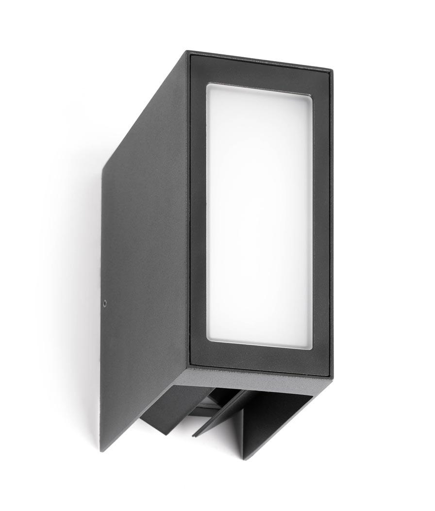 Aplique decorativo exterior log led la casa de la l mpara for Aplique exterior solar led