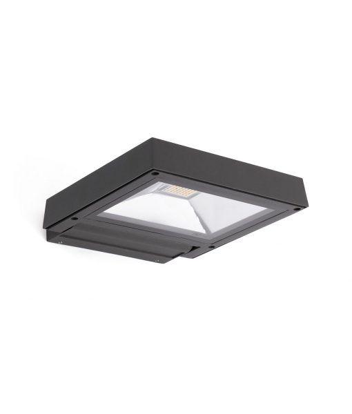Lámpara aplique proyector gris oscuro exterior KARL LED