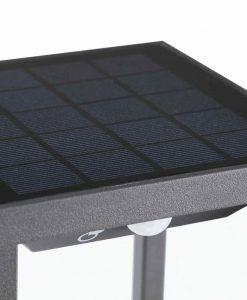 Baliza solar gris oscura SAURA LED detalle