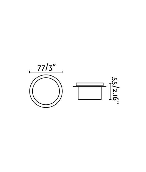 Medidas empotrable circular blanco GALO LED