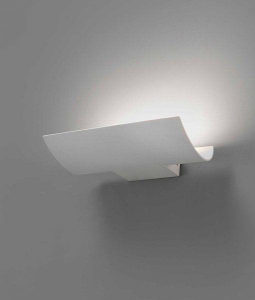 Lámpara aplique blanca exterior KALA LED detalle