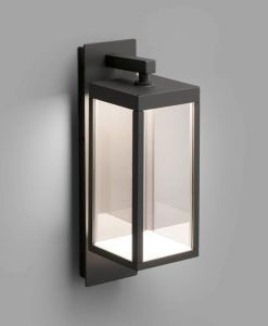 Lámpara aplique exterior gris oscura KERALA LED detalle