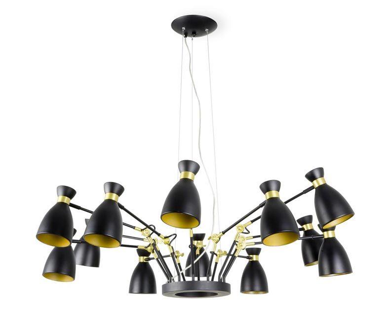 Lámpara de techo colgante Art Deco de 12 luces en La Casa de la Lámpara