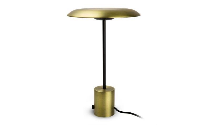 Lámpara de mesa Art Deco HOSHI LED oro satinado y negra en La Casa de la Lámpara
