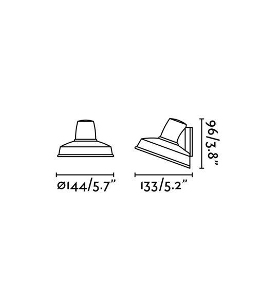 Medidas lámpara exterior aplique blanco BRONX