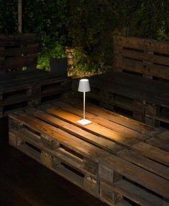 Lámpara portátil blanca TOC LED ambiente