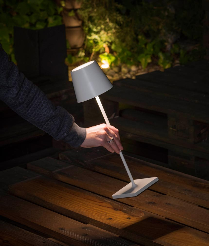 Lámpara portátil blanca TOC LED detalle