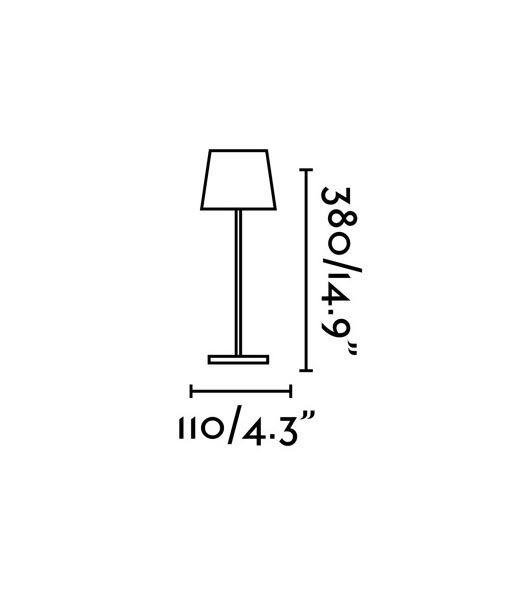 Medidas lámpara portátil blanca TOC LED