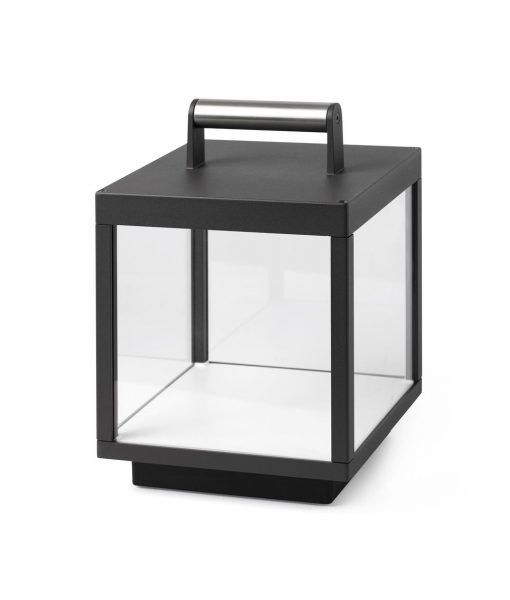 Lámpara portátil exterior gris oscura KERALA LED