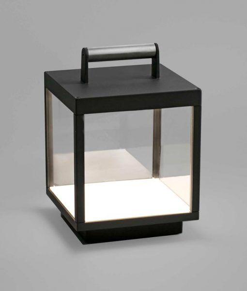 Lámpara portátil exterior gris oscura KERALA LED detalle