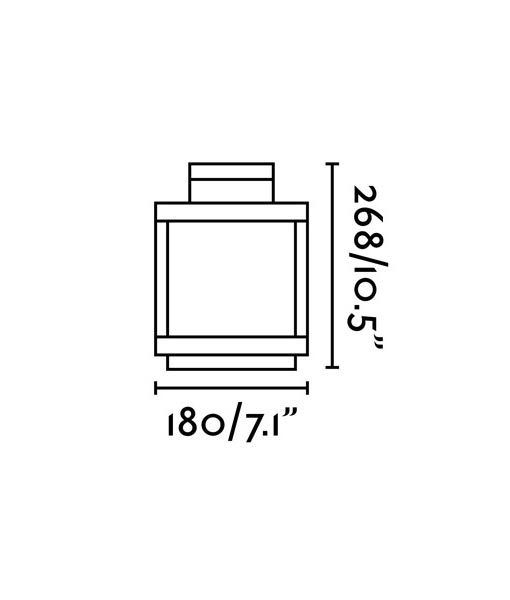 Medidas lámpara portátil exterior gris oscura KERALA LED