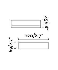 Medidas luminaria aluminio exterior TOLUCA LED