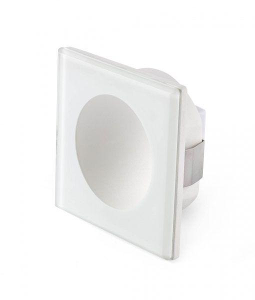 Luminaria cuadrada empotrable blanca GALO LED