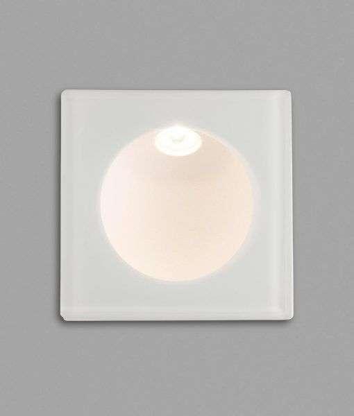 Luminaria cuadrada empotrable blanca GALO LED detalle